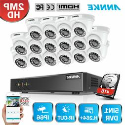 ANNKE 1080P 3000TVL Security Camera System Dome 16CH Channel