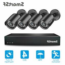 SmartSF 4CH 1080P DVR Outdoor Home Security Camera System HD