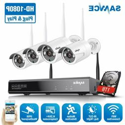 SANNCE 4CH 1080P NVR Wireless Home Security IP Camera System