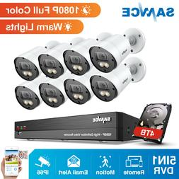 SANNCE 1080P Full Color Night Security Camera 4CH/ 8CH DVR W