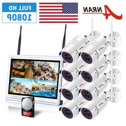ANRAN 1080P HD 8PCS Security Camera System Outdoor Wireless
