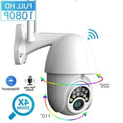 1080P HD Outdoor Waterproof WiFi PTZ Pan Tilt Home Security