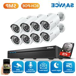 SANNCE 1080P HD POE In/ Outdoor Security IP Camera System 8C