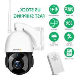 30xZoom 1080P WiFi IP Security PTZ CCTV Camera Outdoor Two-W