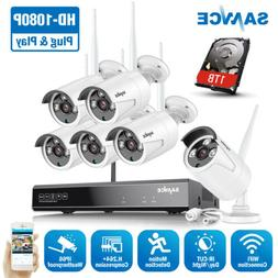 SANNCE 1080P HD Wireless System 8CH NVR Outdoor Security Cam