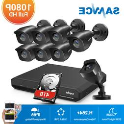 SANNCE 1080P HDMI 4/8CH DVR Indoor Outdoor Home Security Cam