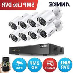 ANNKE 5MP Lite 8CH DVR 8x 1080P Outdoor H.265+ Security Came