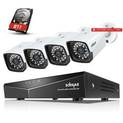Sannce 1080P Poe Security Camera System With 1Tb Hard Drive,