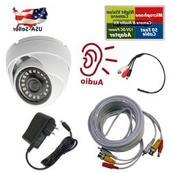 1080P Security Camera Indoor Outdoor 50FT Cable CCTV microph