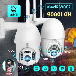 1080P WIFI IP Camera Wireless IN/Outdoor CCTV HD PTZ Smart H