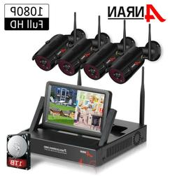 ANRAN 1080P Wireless Security Camera System with 1TB HDD Out
