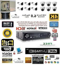 12CH Security Network DVR HD-SDI System Package 12TBHD 6 Ind