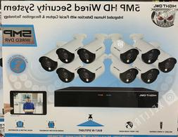 16 channel 5mp hd wired security system