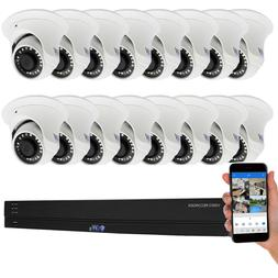16 Channel H.265+ DVR  4K Waterproof Analog Dome Security Ca