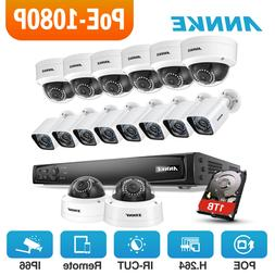 ANNKE 16CH 4K NVR 1080P POE In/Outdoor Security Camera Syste