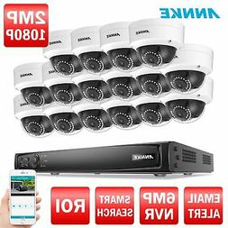 ANNKE 16CH 8MP NVR Power over Ethernet 1080P Security Camera