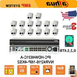 Dahua 16CH NVR CCTV KIT Home Security System 6MP IP Cameras