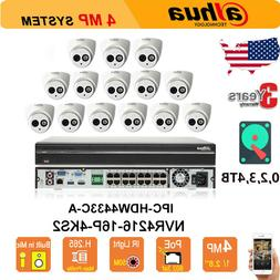 Dahua 16CH NVR KIT Home Security System 4MP IP Cameras POE H