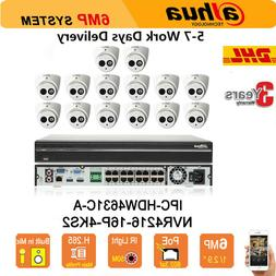 Dahua 16CH NVR Security System 6MP IP Cameras CCTV Kit HD PO
