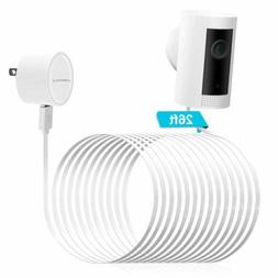 26ft/8M White Micro USB Power Extension Cable Cord for Home