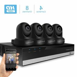 Amcrest 2MP Security Camera System 4K 8CH NVR 4 x 2MP Dome W