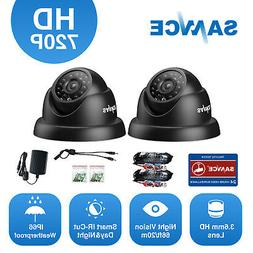SANNCE 2pcs 720P TVI 1500TVL CCTV Dome Security Camera Outdo