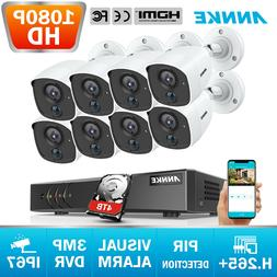 ANNKE 3MP H.265+ 8CH DVR 1080P HD PIR Dection CCTV Security
