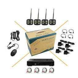 4CH 1080P Audio Wireless WIFI Security System IP Camera HD D