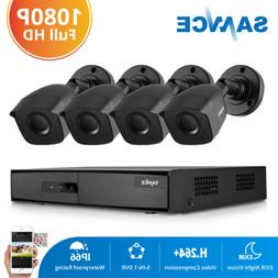 SANNCE 5in1 4CH DVR Full 1080P 2MP CCTV Security Camera Syst