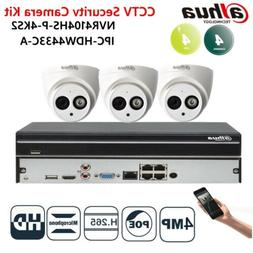 DAHUA 4CH 3PCS CCTV Built-in MIC SECURITY CAMERA SYSTEM 4MP