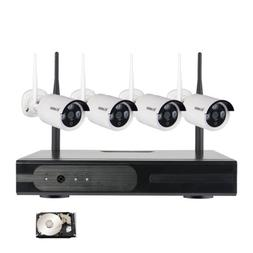 4CH 720P IP Camera Wireless WiFi Complete Home Surveillance