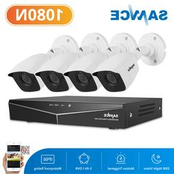 SANNCE 4CH 1080P DVR Video Record 3000TVL Outdoor HD Home Se