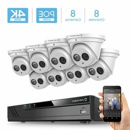 Amcrest 4K 8CH Security IP Camera System POE NVR 8X 8MP Turr