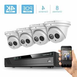 Amcrest 4K 8CH Security IP Camera System POE NVR 4X 8MP Turr