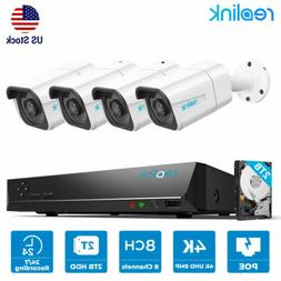 4K Security Camera System 8MP POE IP 8CH NVR Kit Home Survei