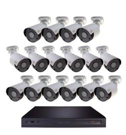 4K ULTRA HD 16 CHANNEL IP SECURITY SYSTEM WITH 4TB HDD AND 1