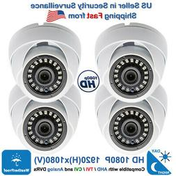 4x HD Night Vision Outdoor Indoor CCTV Security Camera for O