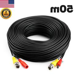 50M 164ft Cord Wire Audio Video DC Power BNC RCA Cable CCTV