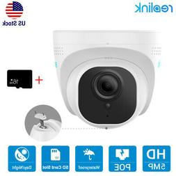 Reolink 5MP PoE IP Security Camera 2560x1920 Motion Detectio
