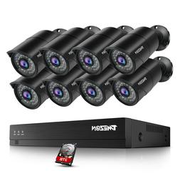TMEZON 5MP POE IP Security Camera 8CH Network NVR Home Outdo