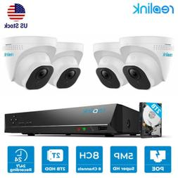 5MP Security Camera System Kit 8CH PoE NVR Audio Surveillanc