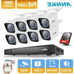 ANNKE 6MP HD 8CH NVR 1080P 2MP POE Bullet Home Security IP C