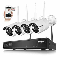 SANNCE 720P 4CH NVR Wireless WIFI IP Network Camera Outdoor