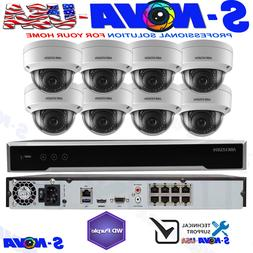 Hikvision 8 CH Channel 4K 8MP NVR w/ 8 x 2MP Dome IP POE Cam