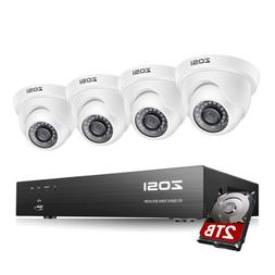 ZOSI 8CH 4K H.265 Home Security Camera System with 2TB HDD 8