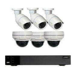 8 Channel 4MP IP Surveillance 2TB NVR System With 3 4MP Dome