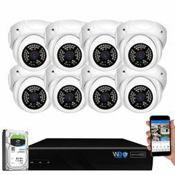 GW 8 Channel 8MP 4K NVR 8 X 5MP 1920P PoE IP Home Dome Secur