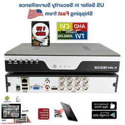 8 Channel H264 DVR with 1TB Hard Drive Standalone Security C
