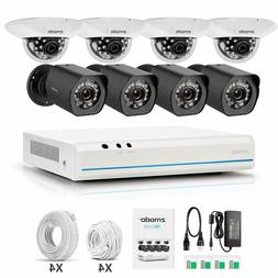 Zmodo 8 Channel NVR 720p Indoor Outdoor Home Security Survei