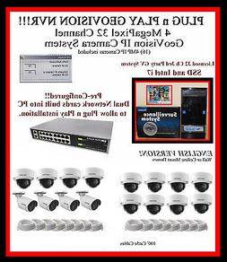 """8 TB 32 CH GEOVISION NVR  """"LICENSED"""" 32ch 3RD PARTY - IP CAM"""